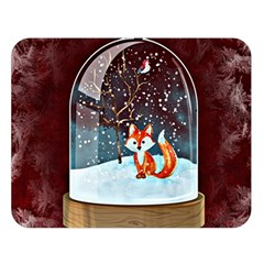 Winter Snow Ball Snow Cold Fun Double Sided Flano Blanket (large)