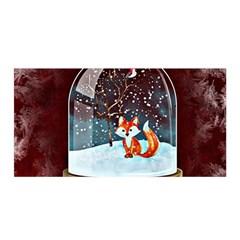 Winter Snow Ball Snow Cold Fun Satin Wrap