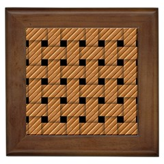 Wood Texture Weave Pattern Framed Tiles
