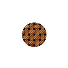 Wood Texture Weave Pattern 1  Mini Buttons