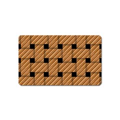 Wood Texture Weave Pattern Magnet (name Card)