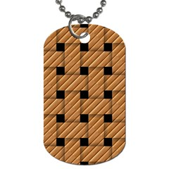Wood Texture Weave Pattern Dog Tag (Two Sides)