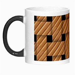 Wood Texture Weave Pattern Morph Mugs