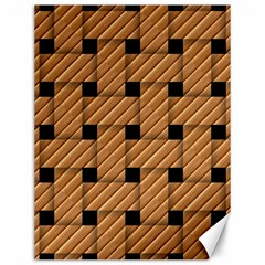 Wood Texture Weave Pattern Canvas 12  X 16