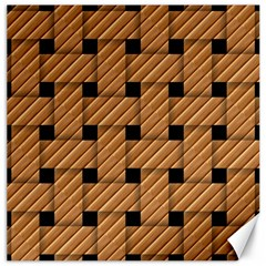 Wood Texture Weave Pattern Canvas 16  X 16