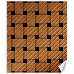 Wood Texture Weave Pattern Canvas 20  x 24