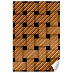 Wood Texture Weave Pattern Canvas 24  x 36
