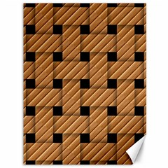 Wood Texture Weave Pattern Canvas 36  x 48