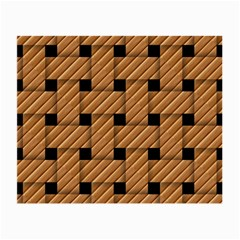 Wood Texture Weave Pattern Small Glasses Cloth (2-Side)