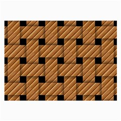 Wood Texture Weave Pattern Large Glasses Cloth
