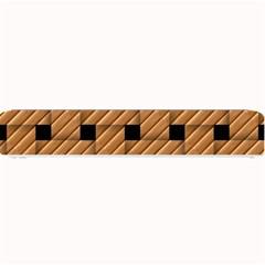 Wood Texture Weave Pattern Small Bar Mats