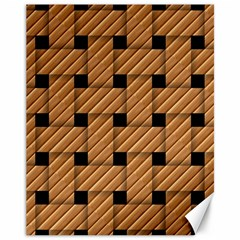 Wood Texture Weave Pattern Canvas 11  x 14