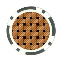 Wood Texture Weave Pattern Poker Chip Card Guard