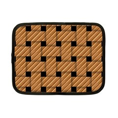 Wood Texture Weave Pattern Netbook Case (small)