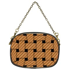 Wood Texture Weave Pattern Chain Purses (one Side)