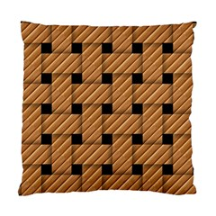 Wood Texture Weave Pattern Standard Cushion Case (One Side)