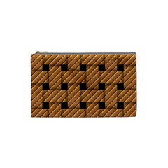 Wood Texture Weave Pattern Cosmetic Bag (Small)