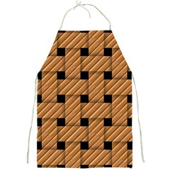 Wood Texture Weave Pattern Full Print Aprons