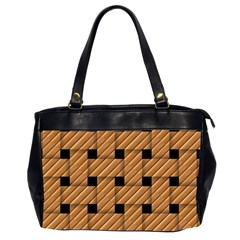 Wood Texture Weave Pattern Office Handbags (2 Sides)