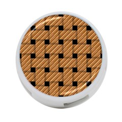 Wood Texture Weave Pattern 4 Port Usb Hub (one Side)