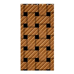Wood Texture Weave Pattern Shower Curtain 36  x 72  (Stall)