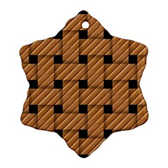 Wood Texture Weave Pattern Ornament (snowflake)