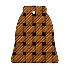 Wood Texture Weave Pattern Ornament (bell)