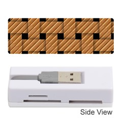 Wood Texture Weave Pattern Memory Card Reader (stick)