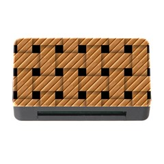 Wood Texture Weave Pattern Memory Card Reader with CF