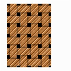 Wood Texture Weave Pattern Small Garden Flag (Two Sides)