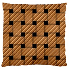 Wood Texture Weave Pattern Large Cushion Case (one Side)