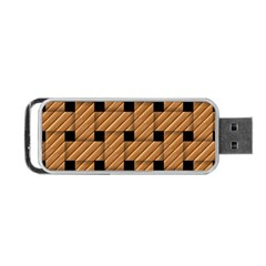 Wood Texture Weave Pattern Portable Usb Flash (two Sides)