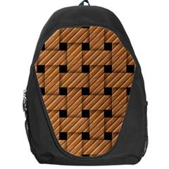 Wood Texture Weave Pattern Backpack Bag