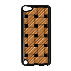 Wood Texture Weave Pattern Apple Ipod Touch 5 Case (black)