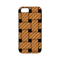 Wood Texture Weave Pattern Apple Iphone 5 Classic Hardshell Case (pc+silicone)