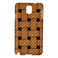 Wood Texture Weave Pattern Samsung Galaxy Note 3 N9005 Hardshell Case