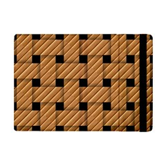Wood Texture Weave Pattern iPad Mini 2 Flip Cases