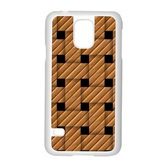 Wood Texture Weave Pattern Samsung Galaxy S5 Case (white)