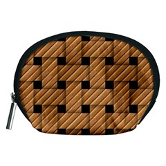 Wood Texture Weave Pattern Accessory Pouches (medium)