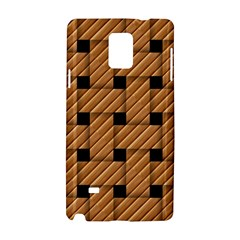 Wood Texture Weave Pattern Samsung Galaxy Note 4 Hardshell Case