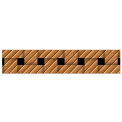 Wood Texture Weave Pattern Flano Scarf (Small)