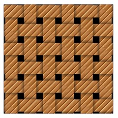 Wood Texture Weave Pattern Large Satin Scarf (Square)