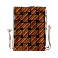 Wood Texture Weave Pattern Drawstring Bag (Small)