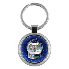 Winter Snow Ball Snow Cold Fun Key Chains (Round)