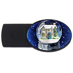 Winter Snow Ball Snow Cold Fun USB Flash Drive Oval (1 GB)