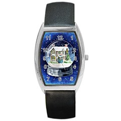 Winter Snow Ball Snow Cold Fun Barrel Style Metal Watch