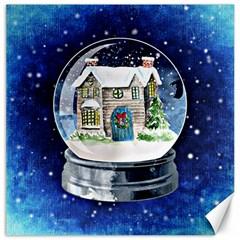 Winter Snow Ball Snow Cold Fun Canvas 12  x 12