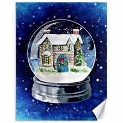 Winter Snow Ball Snow Cold Fun Canvas 12  x 16