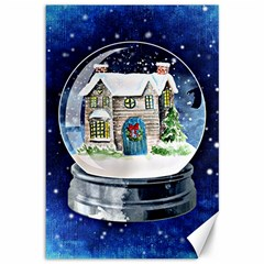 Winter Snow Ball Snow Cold Fun Canvas 12  x 18