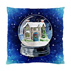 Winter Snow Ball Snow Cold Fun Standard Cushion Case (one Side)